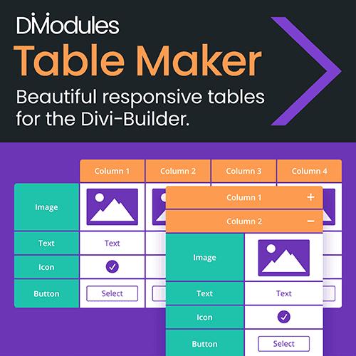 Divi-Modules – Table Maker